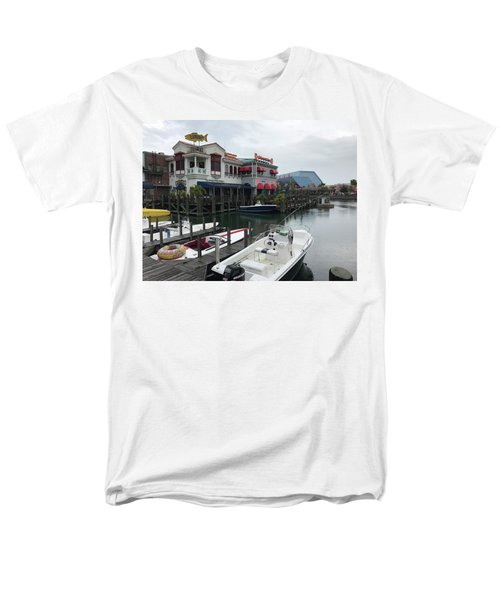 Men's T-Shirt  (Regular Fit) featuring the photograph Boat Yard by Michael Albright