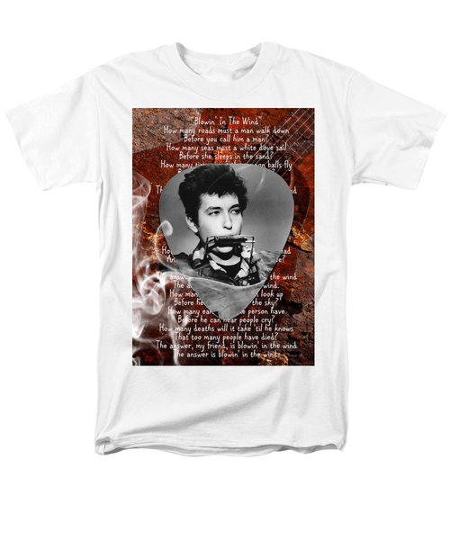 Bob Dylan Art Men's T-Shirt  (Regular Fit) by Marvin Blaine