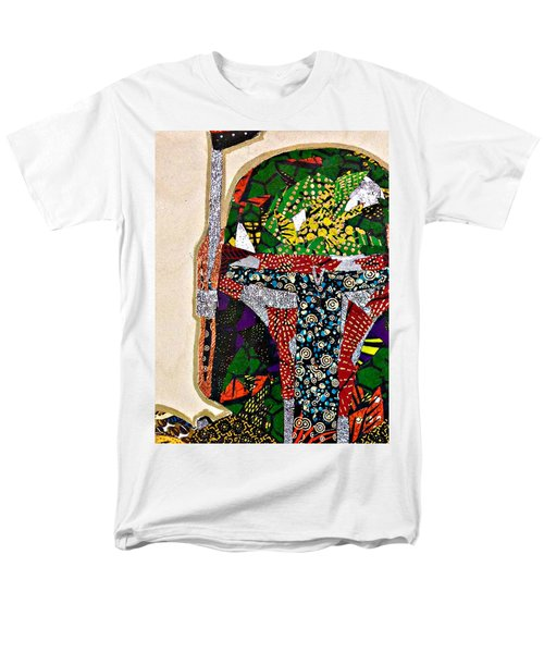 Men's T-Shirt  (Regular Fit) featuring the tapestry - textile Boba Fett Star Wars Afrofuturist Collection by Apanaki Temitayo M