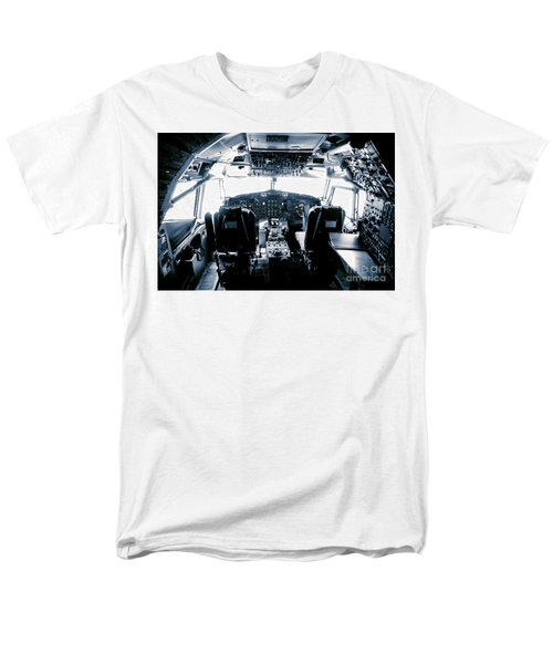 Men's T-Shirt  (Regular Fit) featuring the photograph Boeing 747 Cockpit 22 by Micah May