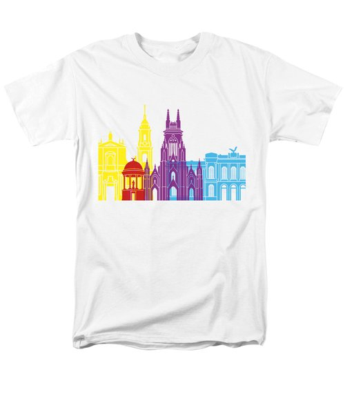 Bogota Skyline Pop Men's T-Shirt  (Regular Fit) by Pablo Romero
