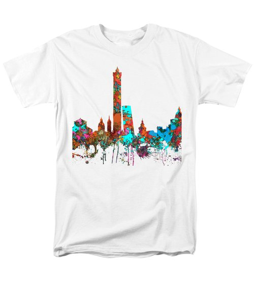 Bologna Italy  Skyline  Men's T-Shirt  (Regular Fit) by Marlene Watson