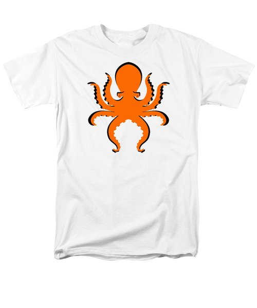 Men's T-Shirt  (Regular Fit) featuring the photograph Boo The Big Orange Octopus  by Edward Fielding