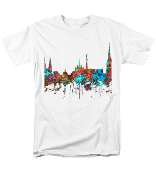 Bordeaux France  Skyline  Men's T-Shirt  (Regular Fit) by Marlene Watson
