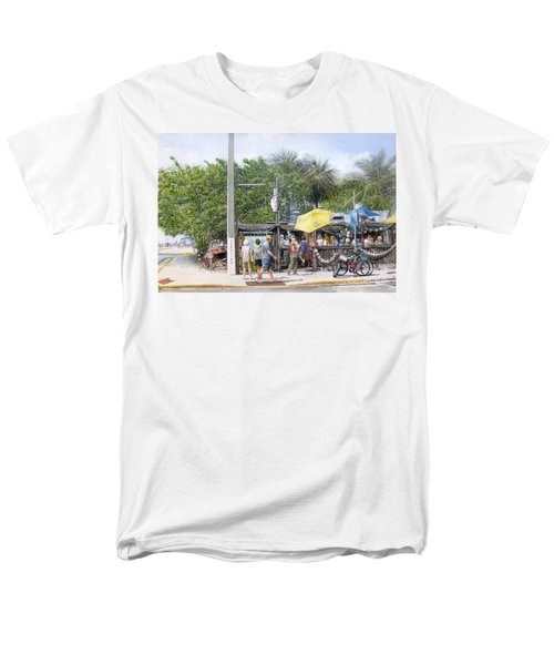 Men's T-Shirt  (Regular Fit) featuring the painting Bos Fish Wagon by Bob George