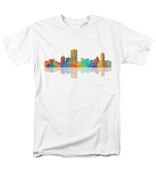 Boston Ma. Skyline Men's T-Shirt  (Regular Fit) by Marlene Watson