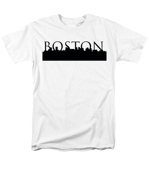 Boston Skyline Outline With Logo Men's T-Shirt  (Regular Fit) by Joann Vitali