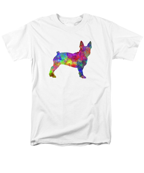 Boston Terrier 01 In Watercolor Men's T-Shirt  (Regular Fit) by Pablo Romero