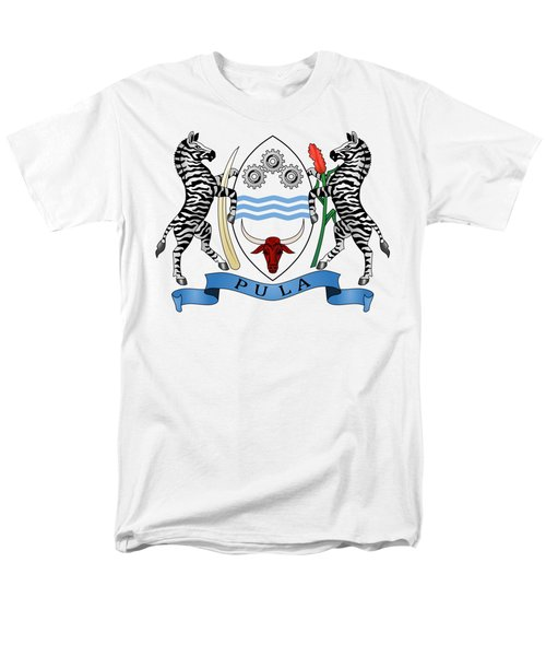 Men's T-Shirt  (Regular Fit) featuring the drawing Botswana Coat Of Arms by Movie Poster Prints