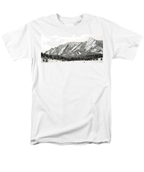 Boulder Flatirons Colorado 1 Men's T-Shirt  (Regular Fit)