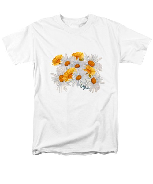 Bouquet Of Wild Flowers Men's T-Shirt  (Regular Fit) by Angeles M Pomata