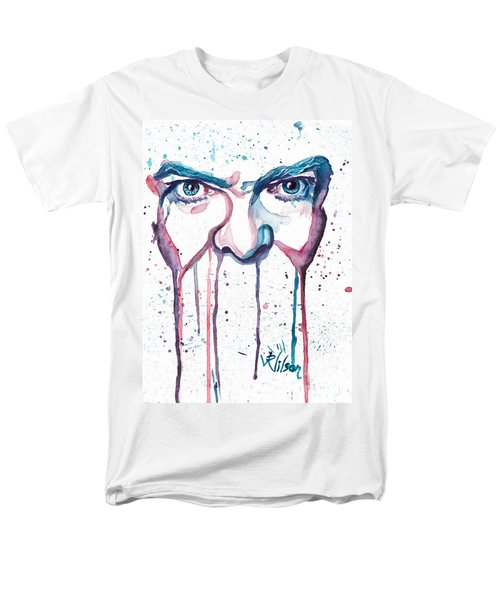 Men's T-Shirt  (Regular Fit) featuring the painting Bowie by D Renee Wilson