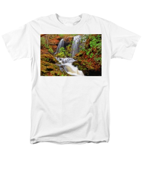 Brasstown Falls 013 Men's T-Shirt  (Regular Fit) by George Bostian