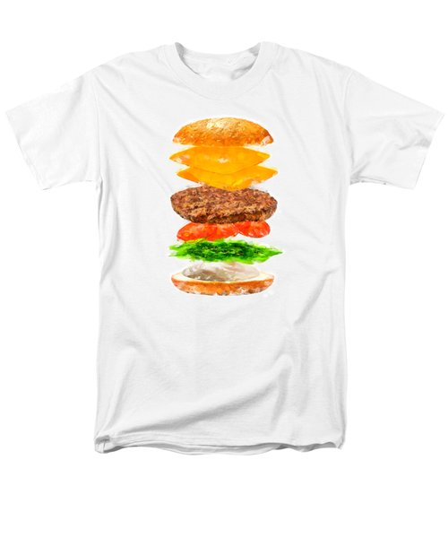 Brazilian Salad Cheeseburger Men's T-Shirt  (Regular Fit) by Caito Junqueira