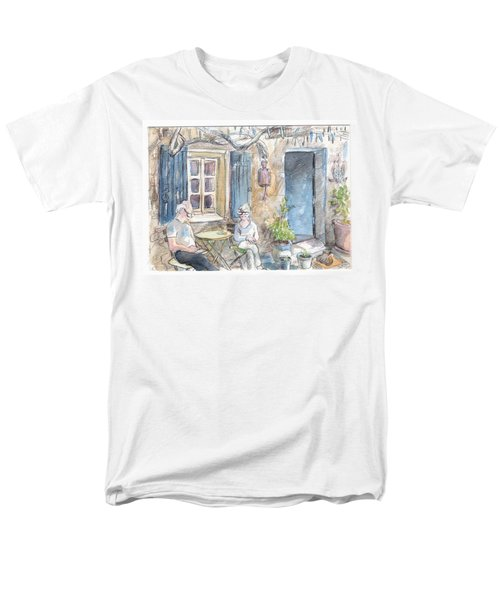 Men's T-Shirt  (Regular Fit) featuring the painting Breakfast Al Fresco by Tilly Strauss