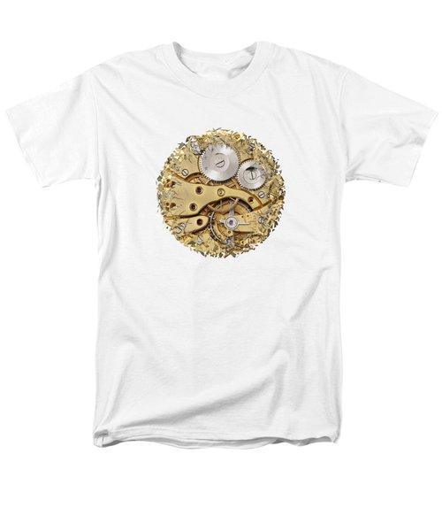 Men's T-Shirt  (Regular Fit) featuring the photograph Breaking Apart Clockwork Mechanism by Michal Boubin