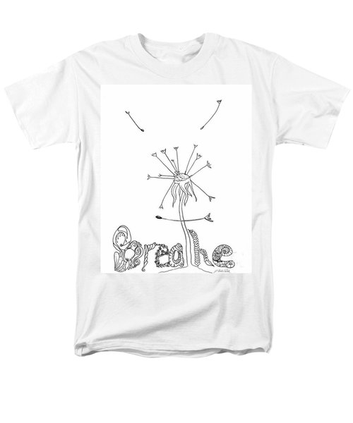 Men's T-Shirt  (Regular Fit) featuring the drawing Breathe by D Renee Wilson