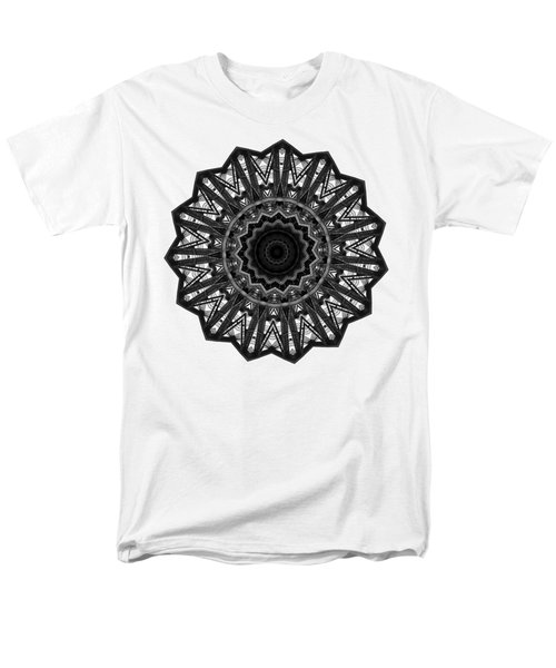 Bridge Construction Kaleidoscope By Kaye Menner Men's T-Shirt  (Regular Fit) by Kaye Menner