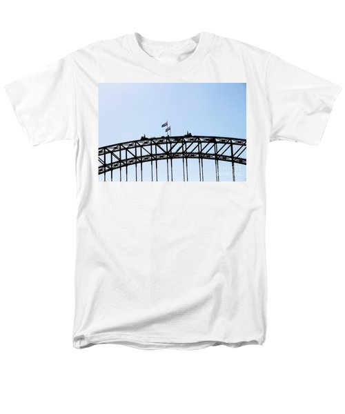 Men's T-Shirt  (Regular Fit) featuring the photograph Bridge Walk by Stephen Mitchell