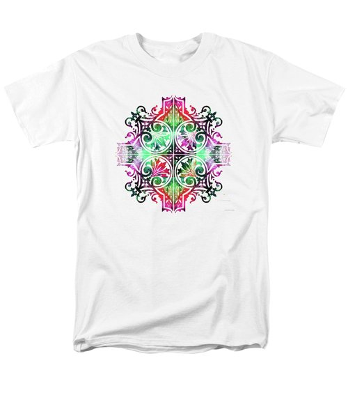 Bright Pattern Art - Color Fusion Design 9 By Sharon Cummings Men's T-Shirt  (Regular Fit)