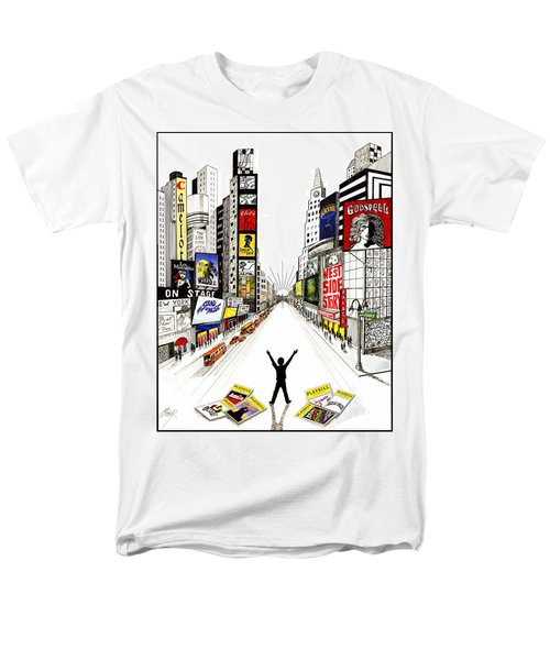 Men's T-Shirt  (Regular Fit) featuring the drawing Broadway Dreamin' by Marilyn Smith
