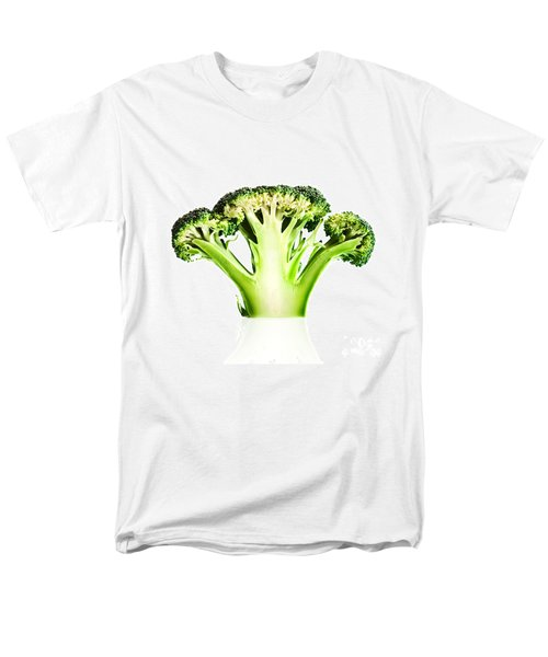 Broccoli Cutaway On White Men's T-Shirt  (Regular Fit) by Johan Swanepoel