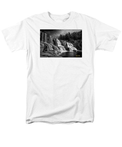 Men's T-Shirt  (Regular Fit) featuring the photograph Brooding Gooseberry Falls by Rikk Flohr