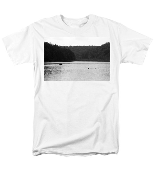 Men's T-Shirt  (Regular Fit) featuring the photograph Brookfield, Vt - Swimming Hole 2006 Bw by Frank Romeo
