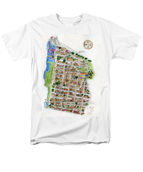 Brooklyn Heights Map Men's T-Shirt  (Regular Fit) by AFineLyne