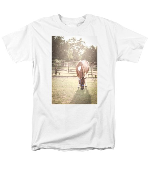 Men's T-Shirt  (Regular Fit) featuring the photograph Brown Horse In A Pasture by Kelly Hazel