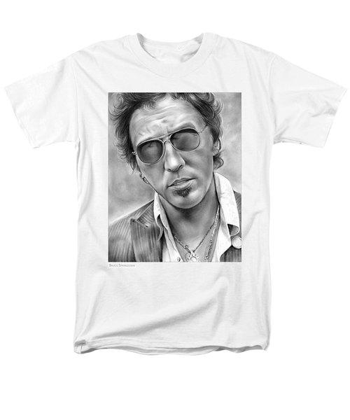 Bruce Springsteen Men's T-Shirt  (Regular Fit) by Greg Joens