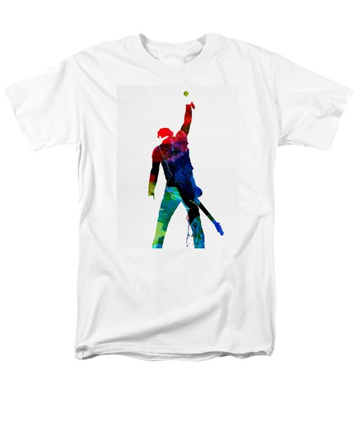 Bruce Watercolor Men's T-Shirt  (Regular Fit) by Naxart Studio