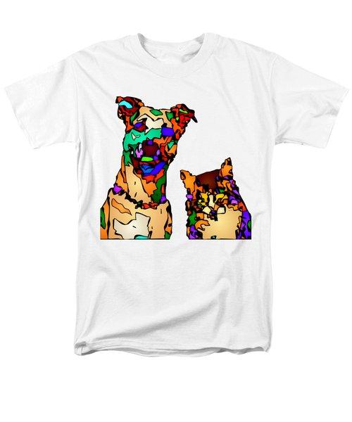 Buddies For Life. Pet Series Men's T-Shirt  (Regular Fit) by Rafael Salazar