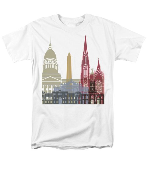 Buenos Aires Skyline Poster Men's T-Shirt  (Regular Fit) by Pablo Romero