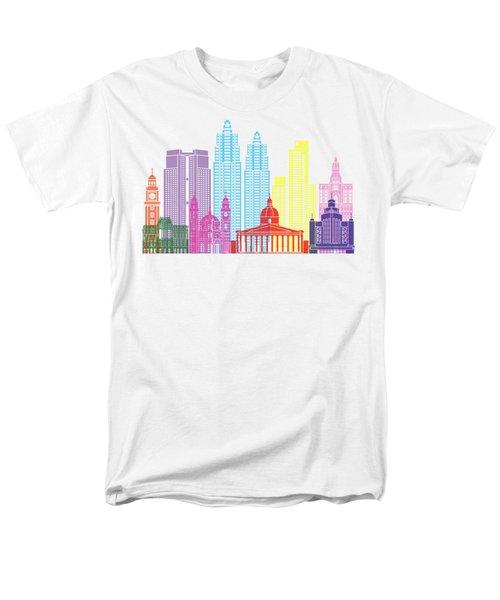 Buenos Aires V2 Skyline Pop Men's T-Shirt  (Regular Fit) by Pablo Romero