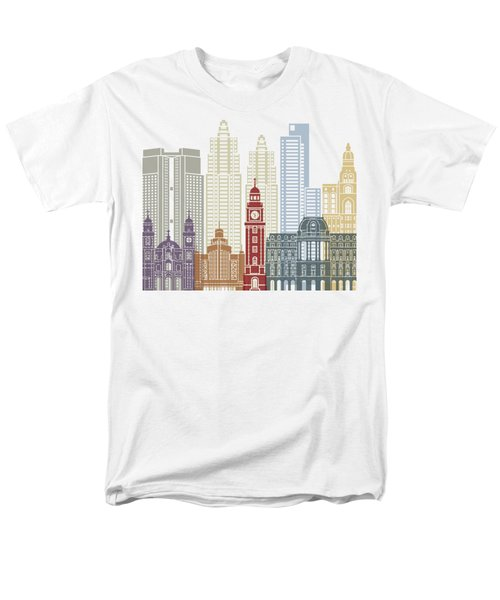 Buenos Aires V2 Skyline Poster Men's T-Shirt  (Regular Fit) by Pablo Romero