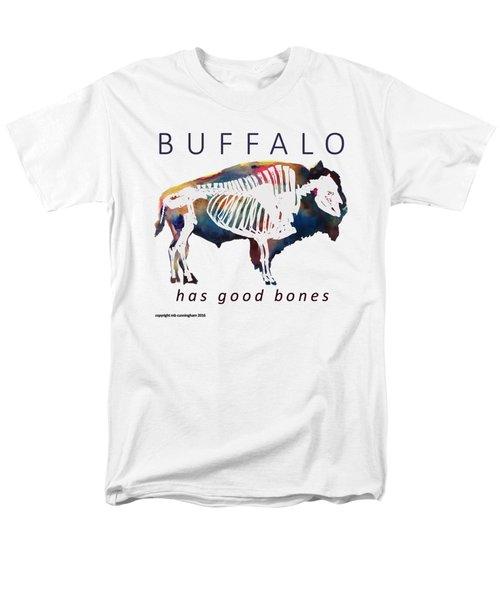 Buffalo Has Good Bones Men's T-Shirt  (Regular Fit) by Marybeth Cunningham