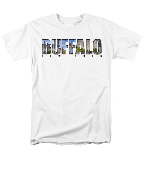 Buffalo Ny Entering Downtown Men's T-Shirt  (Regular Fit) by Michael Frank Jr