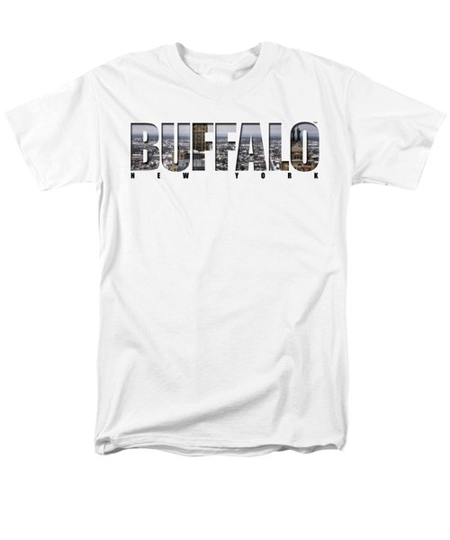 Buffalo Ny Snowy Cityscape Men's T-Shirt  (Regular Fit) by Michael Frank Jr