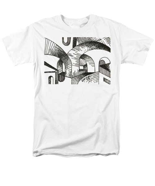 Buildings 1 2015 - Aceo Men's T-Shirt  (Regular Fit) by Joseph A Langley