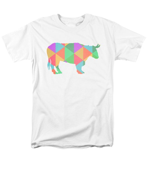 Bull Cow Triangles Men's T-Shirt  (Regular Fit) by Edward Fielding
