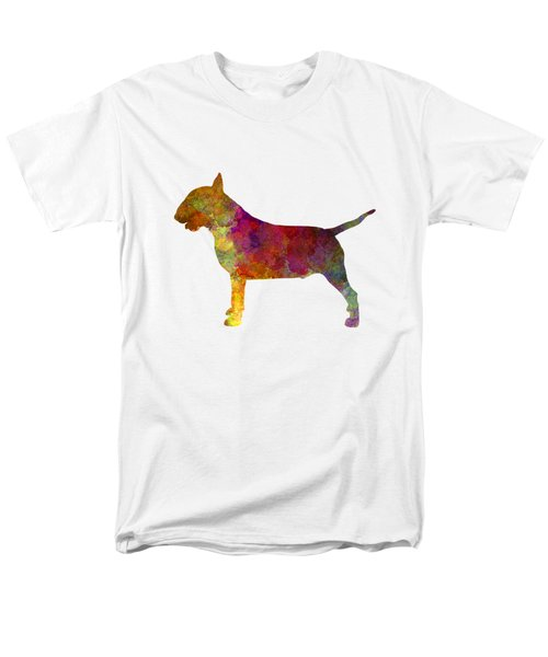 Bull Terrier In Watercolor Men's T-Shirt  (Regular Fit) by Pablo Romero