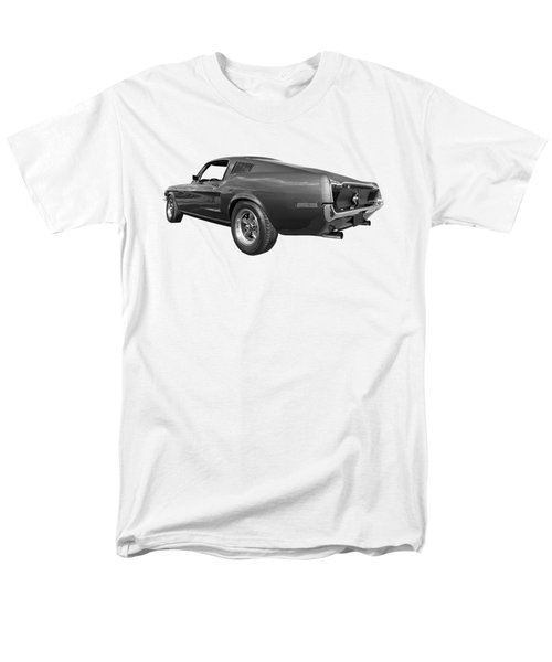 Men's T-Shirt  (Regular Fit) featuring the photograph Bullitt Mustang 1968 In Black And White by Gill Billington