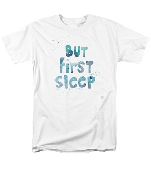 Men's T-Shirt  (Regular Fit) featuring the painting But First Sleep by Linda Woods