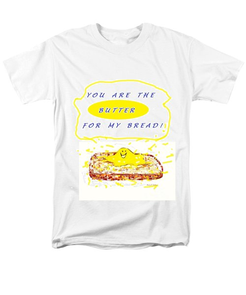 Men's T-Shirt  (Regular Fit) featuring the drawing Butter For My Bread by Denise Fulmer