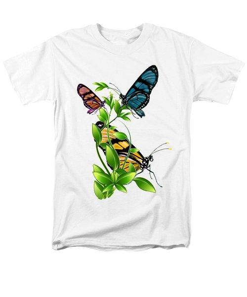 Butterflies On Leaves Men's T-Shirt  (Regular Fit) by Ericamaxine Price