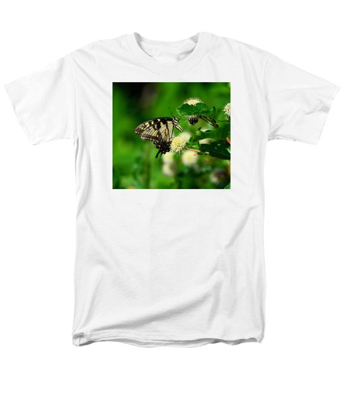 Butterfly And The Bee Sharing Men's T-Shirt  (Regular Fit) by Kathy Eickenberg