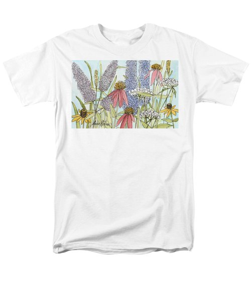 Butterfly Bush In Garden Men's T-Shirt  (Regular Fit) by Laurie Rohner