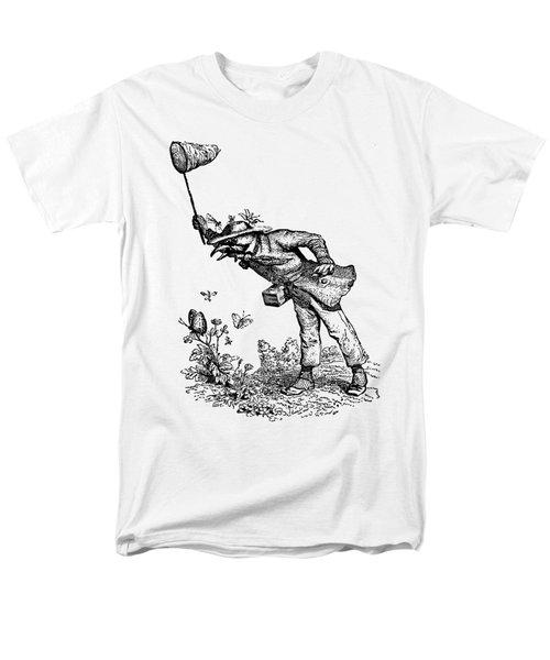 Butterfly Hunting Grandville Transparent Background Men's T-Shirt  (Regular Fit) by Barbara St Jean