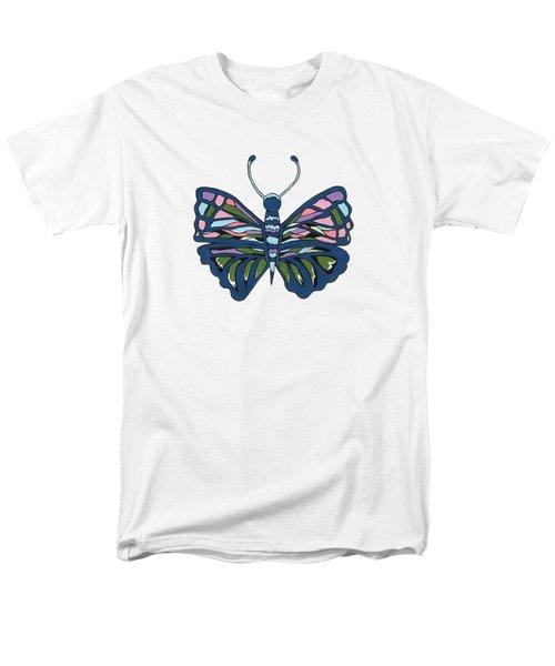 Butterfly In Blue Men's T-Shirt  (Regular Fit) by Kathleen Sartoris